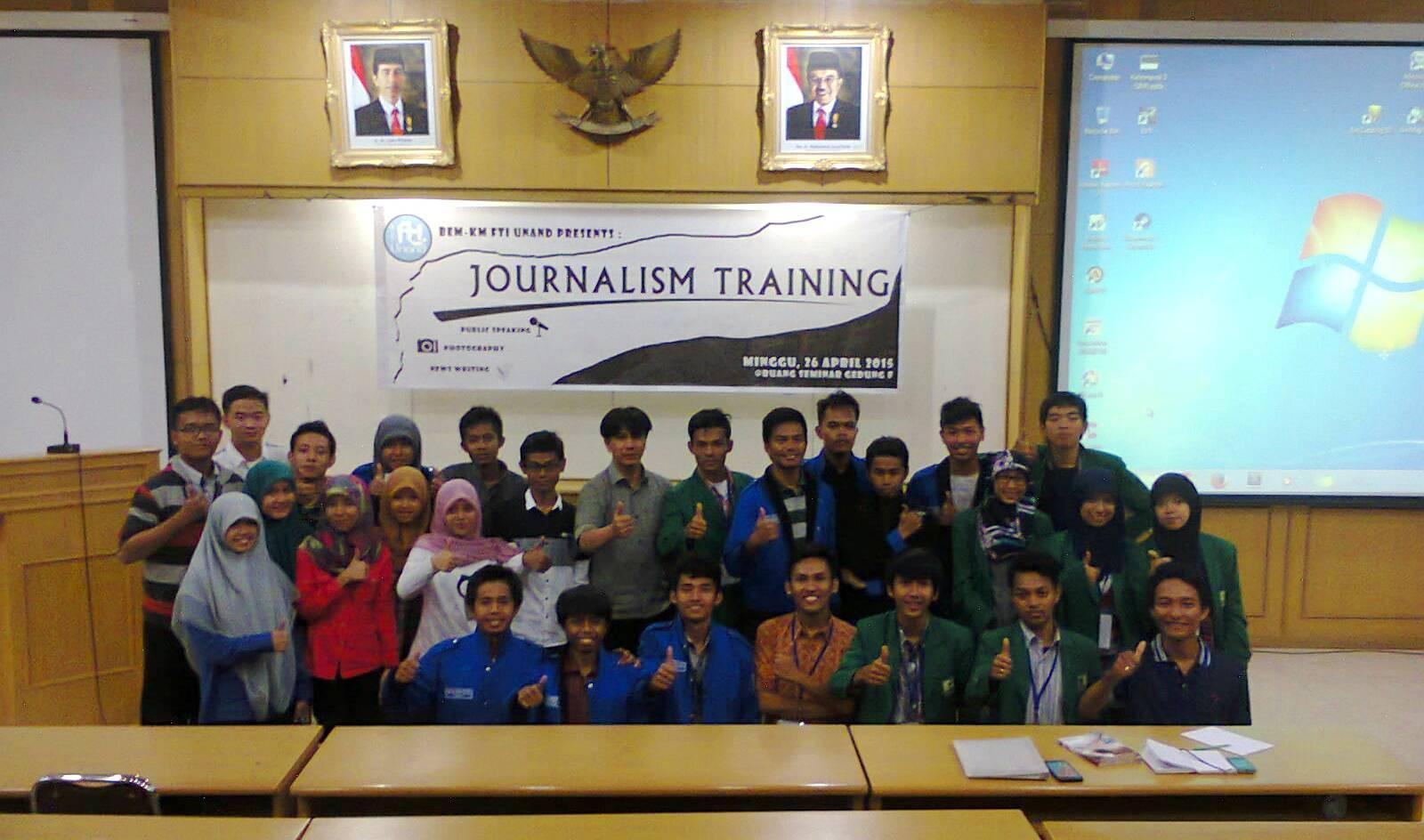 Pelatihan jurnalistik 2014.
